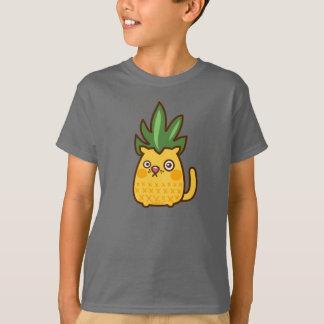 Camiseta T do abacaxi do gato de Chananas