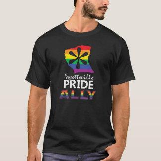 Camiseta T do aliado do preto do orgulho de Fayetteville