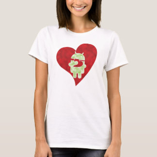 Camiseta T do Android - amor de Droid