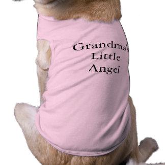 Camiseta T do animal de estimação:  O anjo pequeno da avó