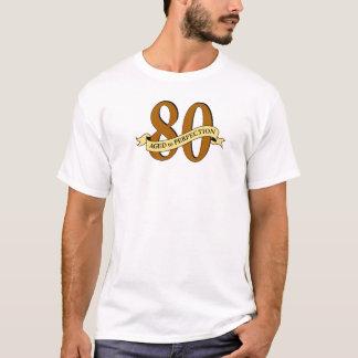 Camiseta T do aniversário do 80