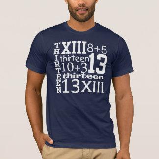 Camiseta T do aniversário do GRÁFICO do divertimento 13 13o