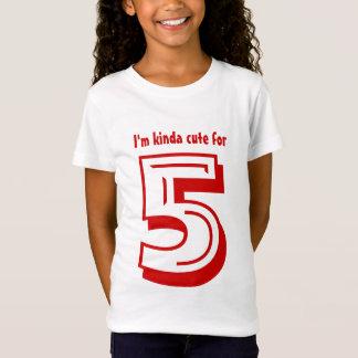Camiseta T do aniversário para velho de cinco anos eu sou