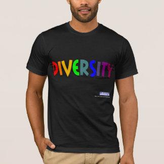 Camiseta T do arco-íris da diversidade