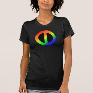 Camiseta T do arco-íris da igualdade