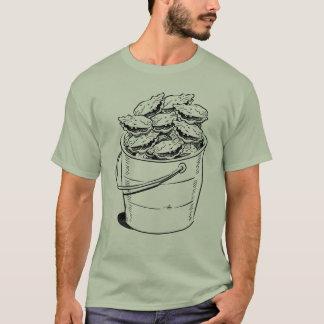 Camiseta T do balde da ostra