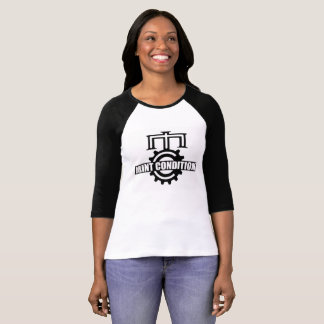 Camiseta T do basebol da roda denteada de Mint Condition