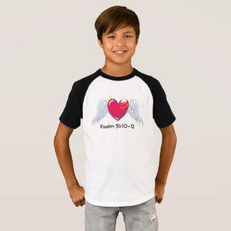 Camiseta T do basebol das crianças do salmo 51
