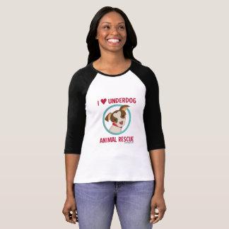 Camiseta T do basebol das mulheres da equipa fraca