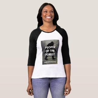 Camiseta T do basebol das senhoras Sasquatch