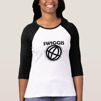 Camiseta T do basebol de SWIGGIS