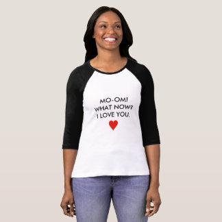 Camiseta T do basebol do amor do dia das mães