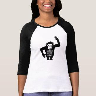 Camiseta T do basebol pelo santuário do chimpanzé noroeste