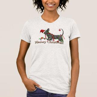 Camiseta T do bebê do Natal de Meowy