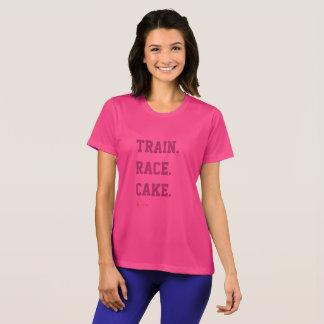 Camiseta T do bolo da raça do trem