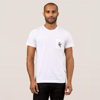 Camiseta T do bolso da preguiça dos homens