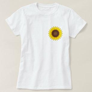 4403eddd2 Camisas   Camisetas Girassol Brilhante No Amarelo
