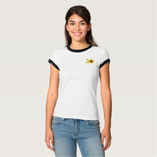 Camiseta T do bolso do girassol