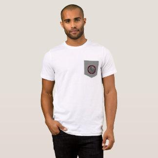 Camiseta T do bolso do logotipo da preparação