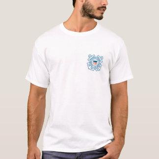 Camiseta T do branco da guarda costeira
