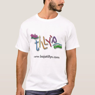 Camiseta T do branco de Baja