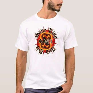 Camiseta T do branco do Fractal do inferno de SBCL