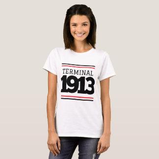 Camiseta T do branco do terminal 1913 do narcótico