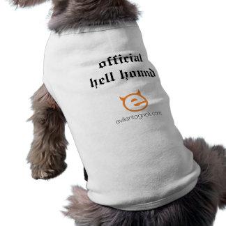 Camiseta T do cachorrinho do cão do inferno