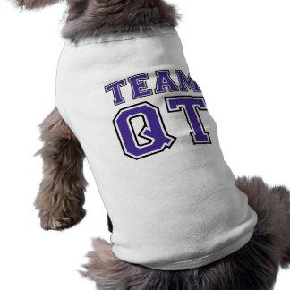 Camiseta T do cachorrinho do quarto da equipe (roxo)