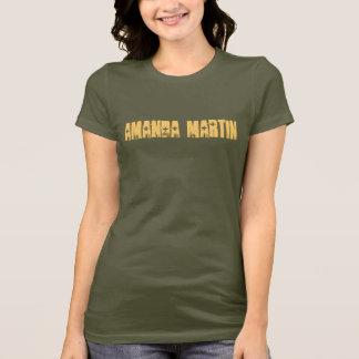 Camiseta T do Camo das mulheres de Amanda Martin