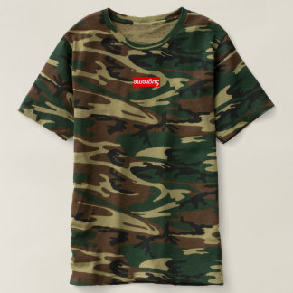 Camiseta T do camo do sugreme