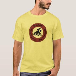Camiseta T do campeão da luta do bacon