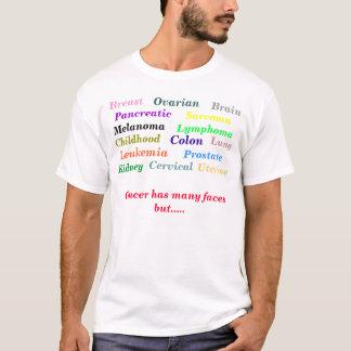Camiseta T do cancer da luta