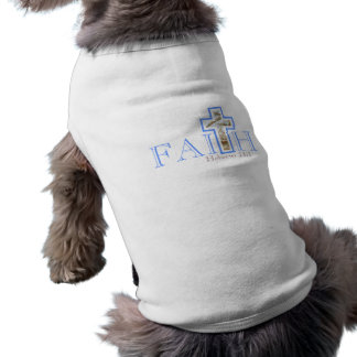 Camiseta T do cão da fé