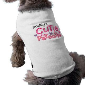 Camiseta T do cão de Personalizable Cutie Patootie
