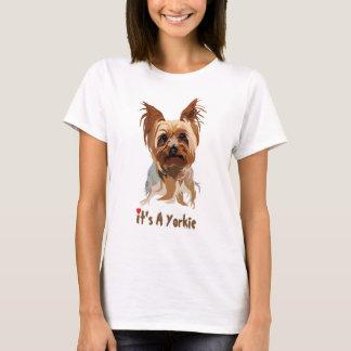Camiseta T do cão: É um Yorkie