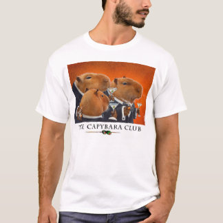 "Camiseta T do ""clube das bolhas Capybara """