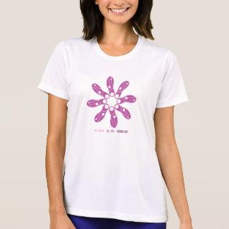 Camiseta T do concorrente do Esporte-Tek da flor do