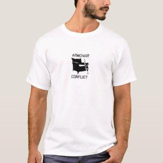 Camiseta T do conflito da poltrona