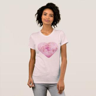 Camiseta T do coração de Peonie