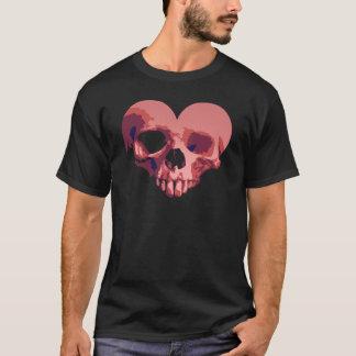 Camiseta T do coração do zombi