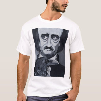 Camiseta T do corvo de Edgar Allan Poe