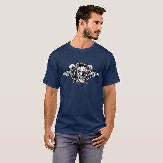 Camiseta T do crânio do auscultadores