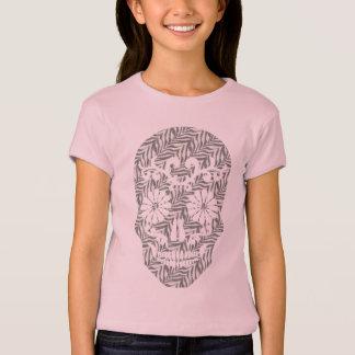 Camiseta T do crânio do Grunge da zebra do crânio de Skully