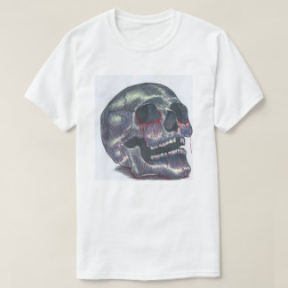 Camiseta T do crânio dos homens