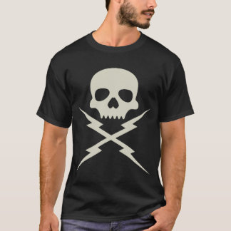 Camiseta T do crânio e dos Chopsticks