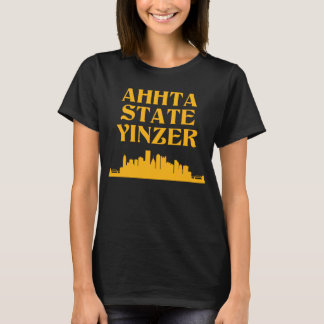 Camiseta T do Crewneck das mulheres de Yinzer do estado de