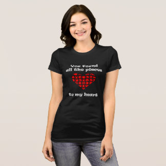 Camiseta T do dia dos namorados das mulheres