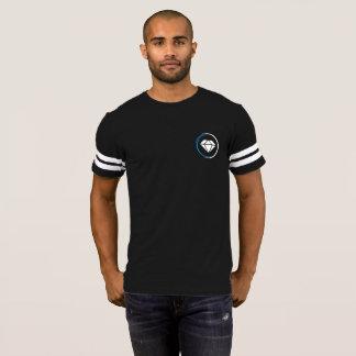 Camiseta T do diamante do estilo do futebol