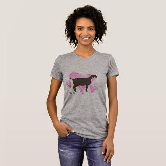 Camiseta T do Doodle da cabra da leiteria de Nubian